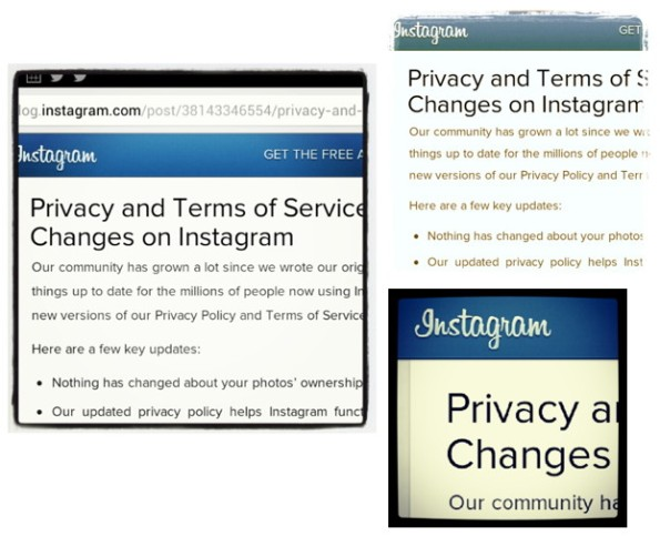 Privacy Policy changes By Instagram